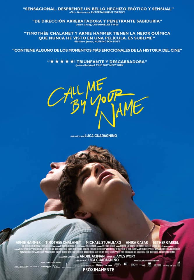 "Película: ""Call me by your Name"""
