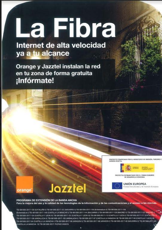Inicio de los trabajos de despliegue de fibra óptica por al empresa Orange