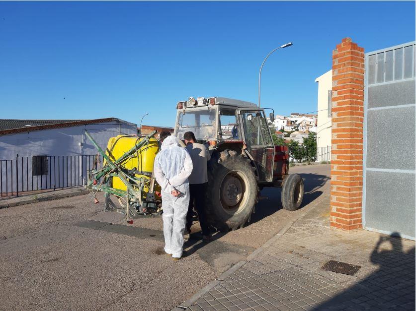 Desinfección de calles