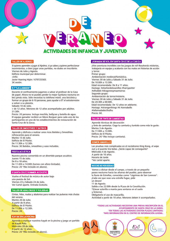 Actividades de infancia y juventud